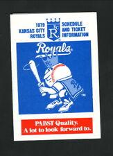 Kansas City Royals--1979 Pocket Schedule--Pabst