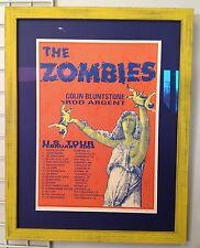 THE ZOMBIES Rod Argent Colin Blunstone SUPER RARE READ DESCRIPTION S/N tour Art
