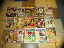 Lot 15 Quick & Easy Plastic Canvas Magazines Dozens Patterns Projects 1992-2000
