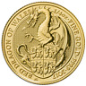2017 U.K. 25 Pound 1/4 oz Gold Queen's Beast The Dragon Brilliant Uncirculated