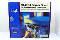 Vintage Intel Dual Slot 1 Server Board N440BX UNUSED Pentium II III