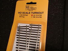 Micro- Engineering # 14-705 HO TURNOUT LH #6 Code 83 BIGDISCOUNTTRAINS