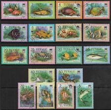Stamps-Tuvalu. 1979. Poisson Définitif Ensemble Sg:105/22. Très Bien Utilisé
