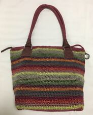 THE SAK Cambria Crochet Large Tote Purse Gypsy Stripe - Multicoloured Stripe EUC