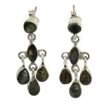 Chandelier Dangle Labradorite Earrings Sterling Silver Post Clasp Gemstone