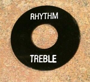 Black & White Genuine Original Gibson Les Paul Switch Washer Ring, Rhythm,Treble