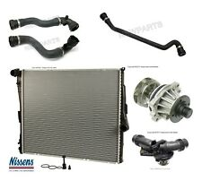 BMW E83 X3 04-06 Radiator Upper Lower Hose with Thermostat and Water Pump Kit