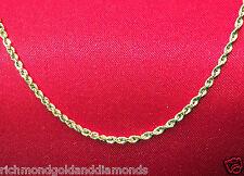 Kooljewelry 10k Yellow Gold Rope Chain Necklace 1.5 Mm 16 Inch