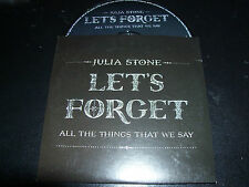 Julie Stone (As In & Angus) Let's Forget For All The Things That We Say Promo CD