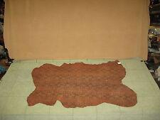 Brown Pig Suede Python Print Leather Cow Hide Skin N25T