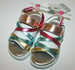 New Toddler Girls Carter's Blanca Sandals Rainbow 4 6 8 NWT