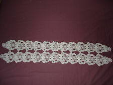 #297 Beautiful Vintage Handmade Lace 44''/9''(113cm/23cm)