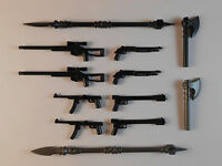 Guns for Lego Minifigures. Lot of 12. New!! Sniper Rifle Weapons Accessories toy