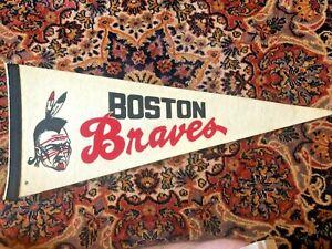 Vintage Rare Boston Braves Hockey Pennant
