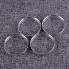 4Pcs Aluminum Alloy Wheel Spacer Hub Centric Rings 56.1mm OD to 54.1mm ID Silver
