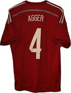 2013 #4 Daniel AGGER DENMARK Football Shirt Jersey ADIDAS size M Tricot Maglia