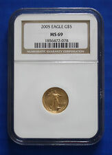 2005 $5 Gold American Eagle - NGC MS69
