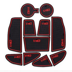 For Volvo V40 Car interior Anti-Slip Mat Auto Cup Holder Gate Slot Pad