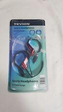 Tevion Sports Hook-On Red & Black In-Ear Earphones Headphones