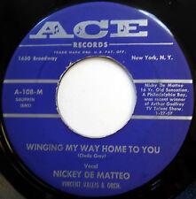NICKY DE MATTEO 45 Winging My Way Back Home / Spring Blossoms VG++ Pop ACE e1790