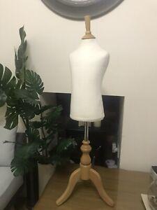 Kids Mannequin Torso Dress Form Clothing Display Model W/ Tripod Stand VGC