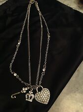 JUICY COUTURE COSTUME JEWELLER NECKLESS HEART CROWN