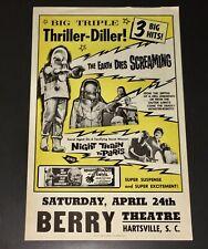1960's 'BIG TRIPLE THRILLER DILLER' BENTON THRILL SHOW HANDBILL+PATTERSON COA!