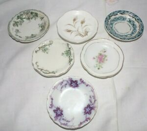 Lot of 6 Vintage Assorted Butter Pats