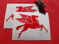 Pair of  Mobil oil Pegasus handed stickers