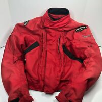 TEKNIC Heavy Armour Red Padded Dirt Bike Motorcycle Jacket L 46 US GoreTex (K)
