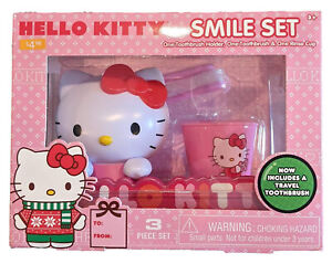 Hello Kitty Smile Set - Toothbrush Holder, Toothbrush & Rinse Cup - 1266