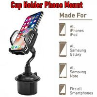 Universal New Adjustable Car Cup Holder Gooseneck Cradle Mount for Cell Phone #1