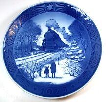 """Royal Copenhagen 1973 plate Going Home for Christmas blue & white 7.25"""""""