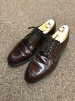Cole Haan Dress Shoes Oxfords Size 9.5 Brown Leather Lace Up G-588