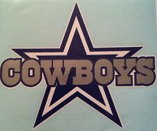 "Dallas Cowboy Decal Vinyl NFL 10"" Wide X 8.0"" Tall  Sticker. **FREE SHIPPING**"