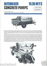 Equipment Brochure - Ritemixer Concrete Cement Pump Mixer c1977 Set of 5 (E2305)