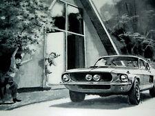 1967 FORD MUSTANG SHELBY GT 500/GT 350 ORIGINAL AD - VTG/GT500/289/428 v8 engine
