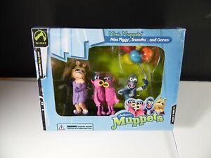 Palisades Mini Muppets Figure Set One Miss Piggy, Snowths and Gonzo Figure Lot