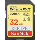 SanDisk 32GB Extreme Plus SDHC C10 90MB/S SD Memory U3  Card USH-I SDSDXNE-032G