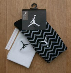 Air Jordan Boy 2 Pr High Crew Socks ~ Black, Gray & White ~ 3Y-5Y ~ Sock Sz 7-9