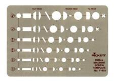 Pickett Chartpak 1180 Small Machine Screw Template (NEW)