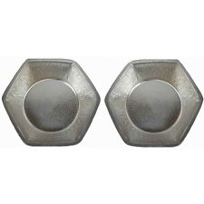 2 Light Weight Nickel Alloy Hexagon Foot Soaking Spa Therapy Pedicure Bowls