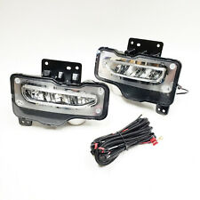For 2016 2017 2018 GMC Sierra/Sierra 1500 Clear LED Fog Light with Wire Switch