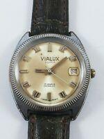 Vintage VIALUX SUPER INCABLOC 17 Jewels Hand Winding Swiss Watch Working