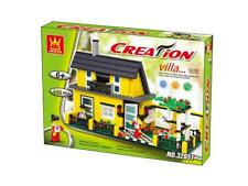 House Building Blocks Bricks -Creation-Villa Vacation- Wange