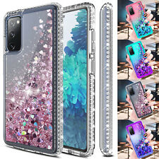 For Samsung Galaxy S21/S20 FE/Note 20 Ultra Case Liquid Bling Luxury Phone Cover
