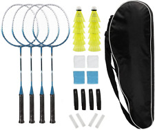 Badminton Rackets Set of 4 for Backyard Sports Adults Kids Family Racquets Game
