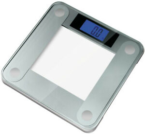 Digital Bathroom Scale Widescreen Blue Backlit Xbright LCD Step on Activation