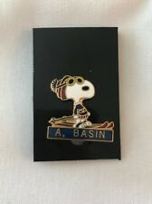 Vintage A, BASIN Snoopy Peanuts Skiing Ski Mountain Hat Lapel Pin 474