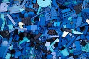 LEGO Blue Bricks - 500g of Mixed Bricks Plates Parts & Pieces - Bundle Job Lot